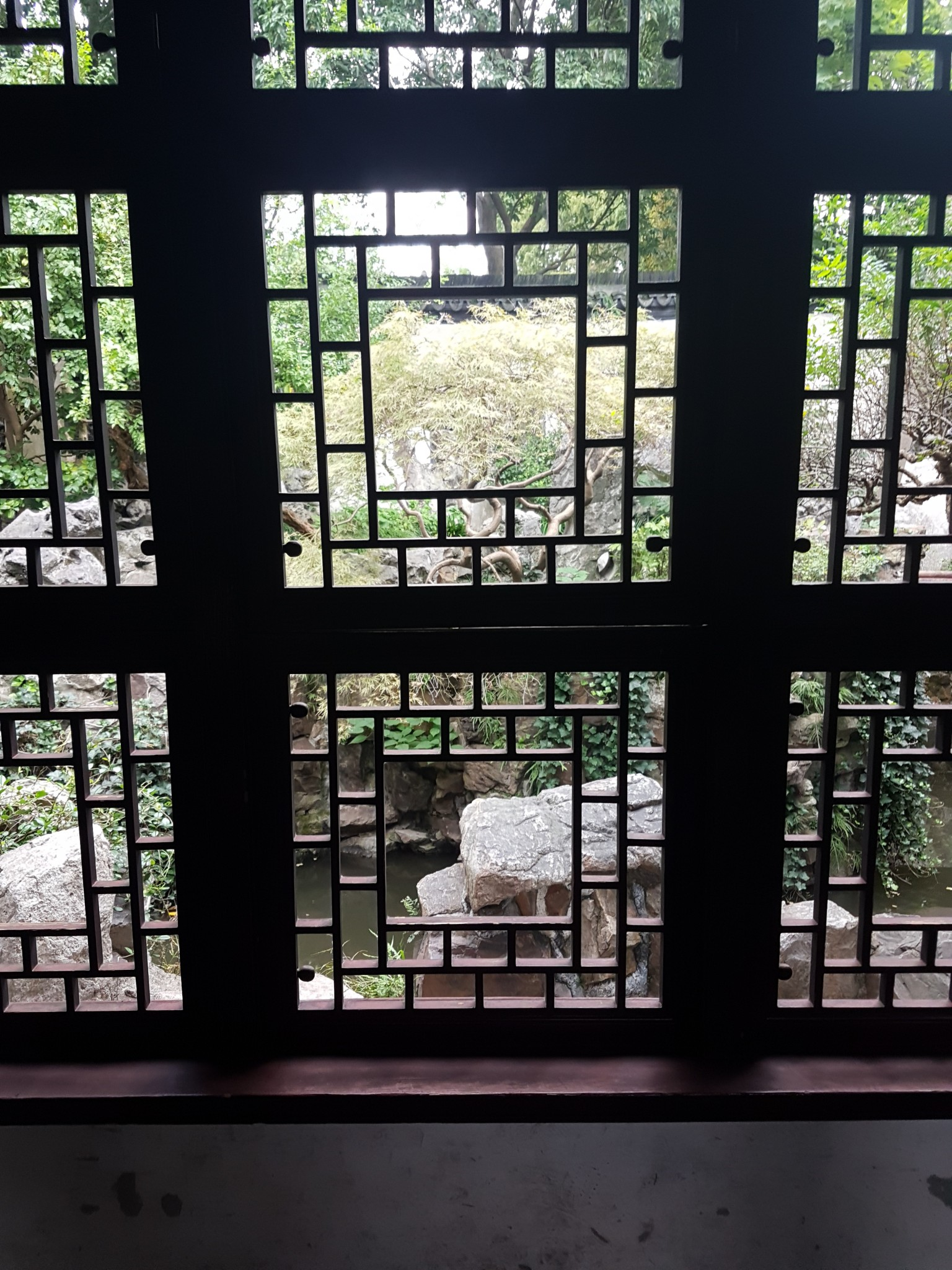 Elaborately constructed window