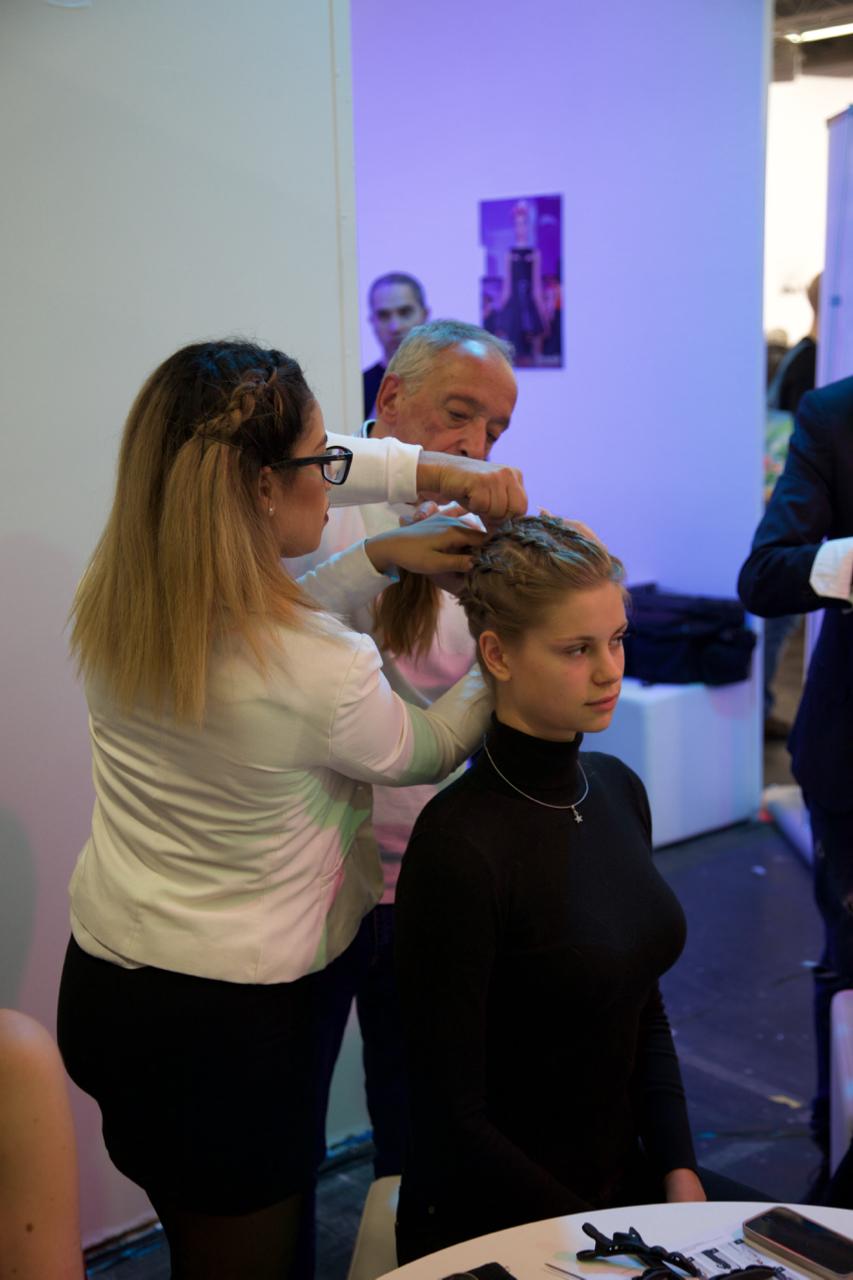 Günter Loibl und das Haarkunst Team