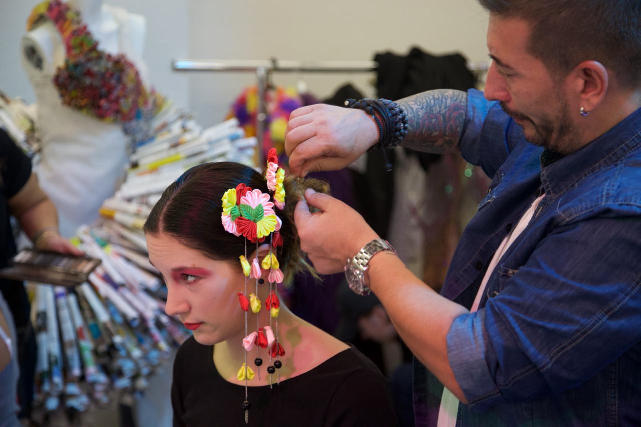 Das Haarkunst Team in Aktion