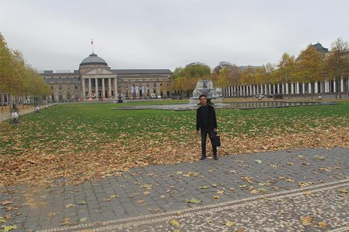 Simo Marom in Wiesbaden.