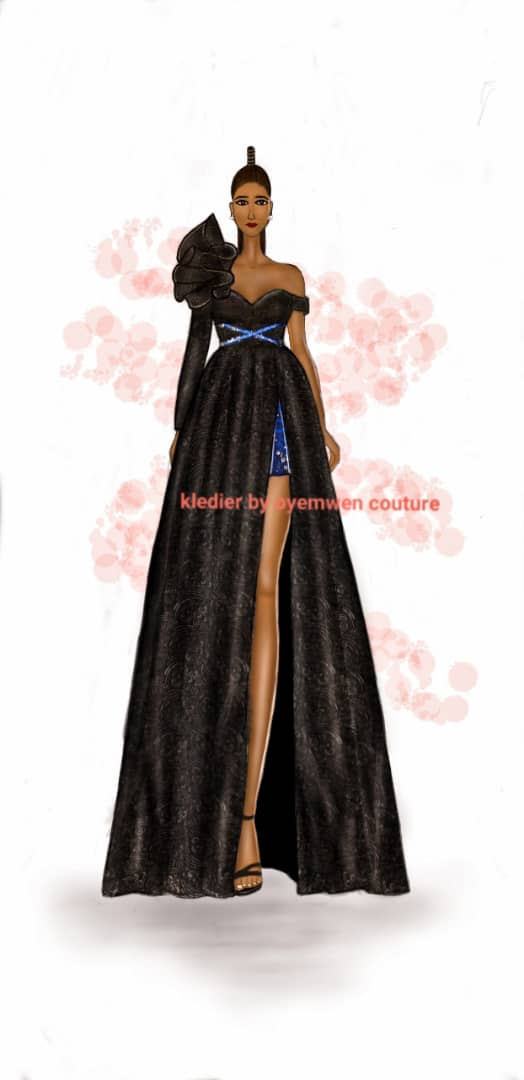 Wedding Reception Dress (Ari Dress): Freda Omoyemwen Iduhon, Nigeria, Alumni (Dream your Dreams)
