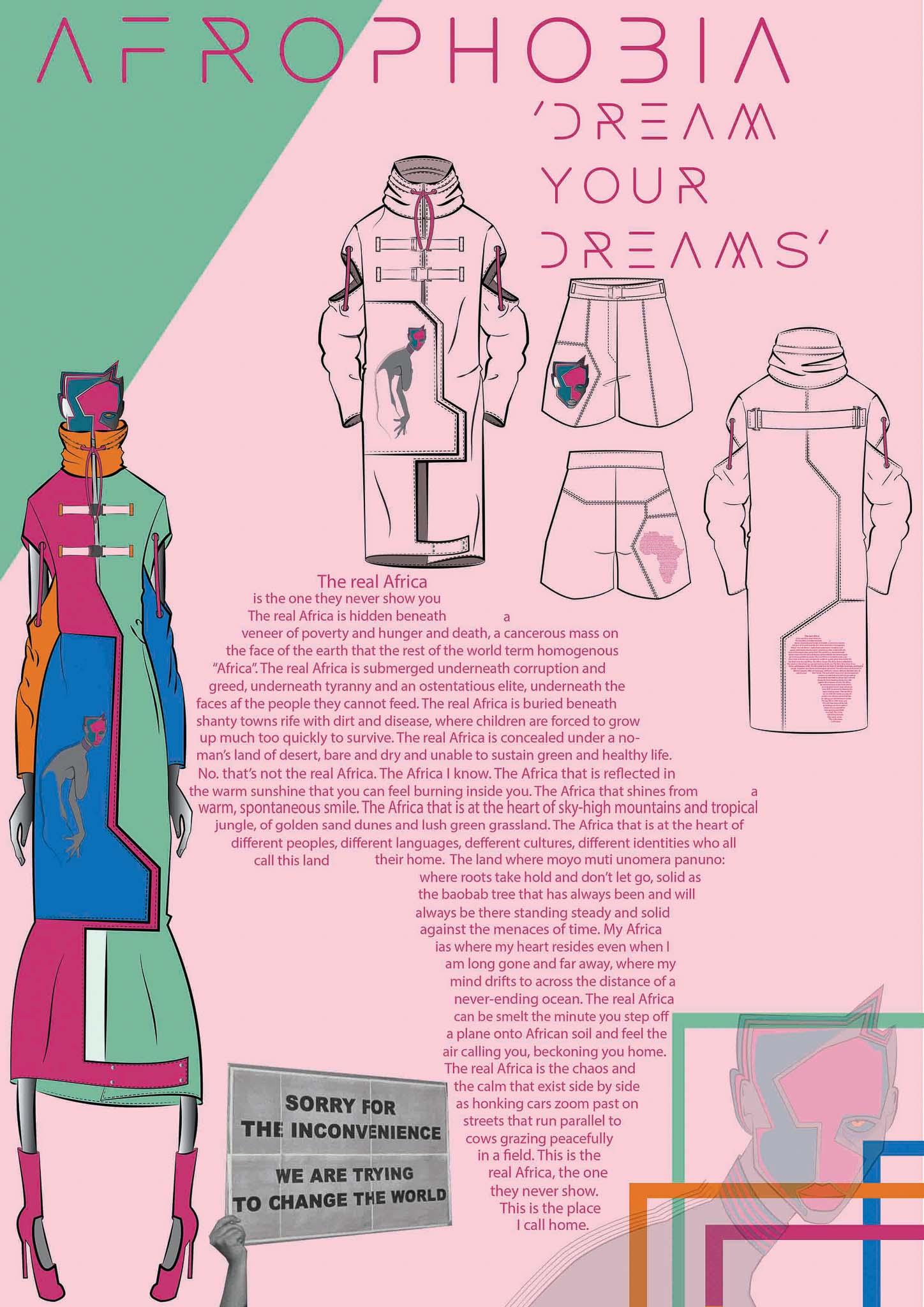 Afrophobia: Quesheka Kwanga, Südafrika, Student, Design