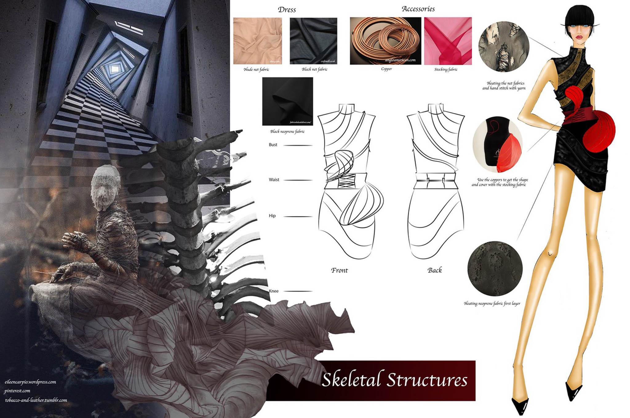Skeletal Structures: Onwaree Sukjumroen, Thailand, Student, Raffles Design Institute Singapore