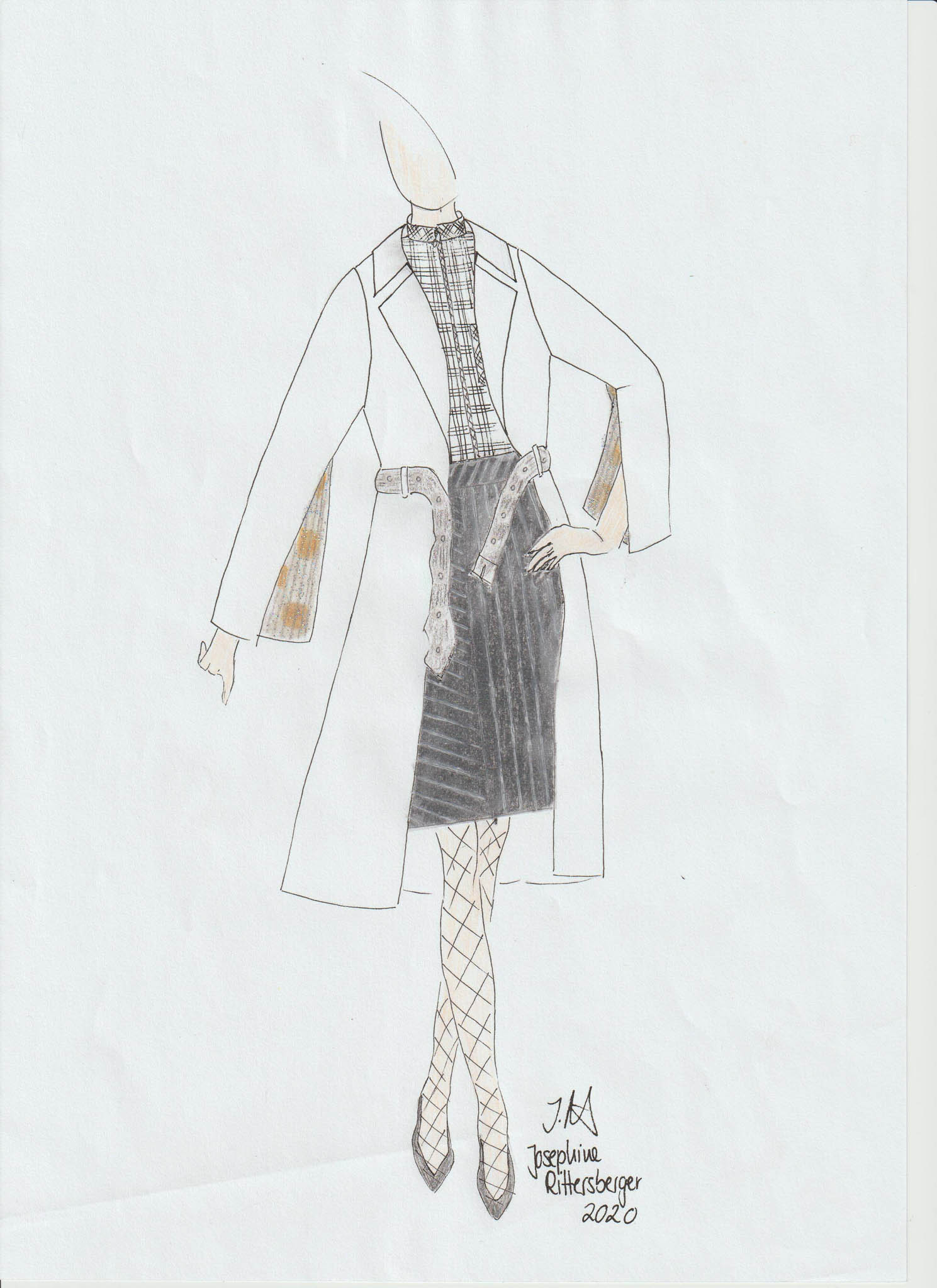 No Title: Josephine Rittersberger, Deutschland, Student, Modeinstitut Gabriel (Cradle to Cradle)