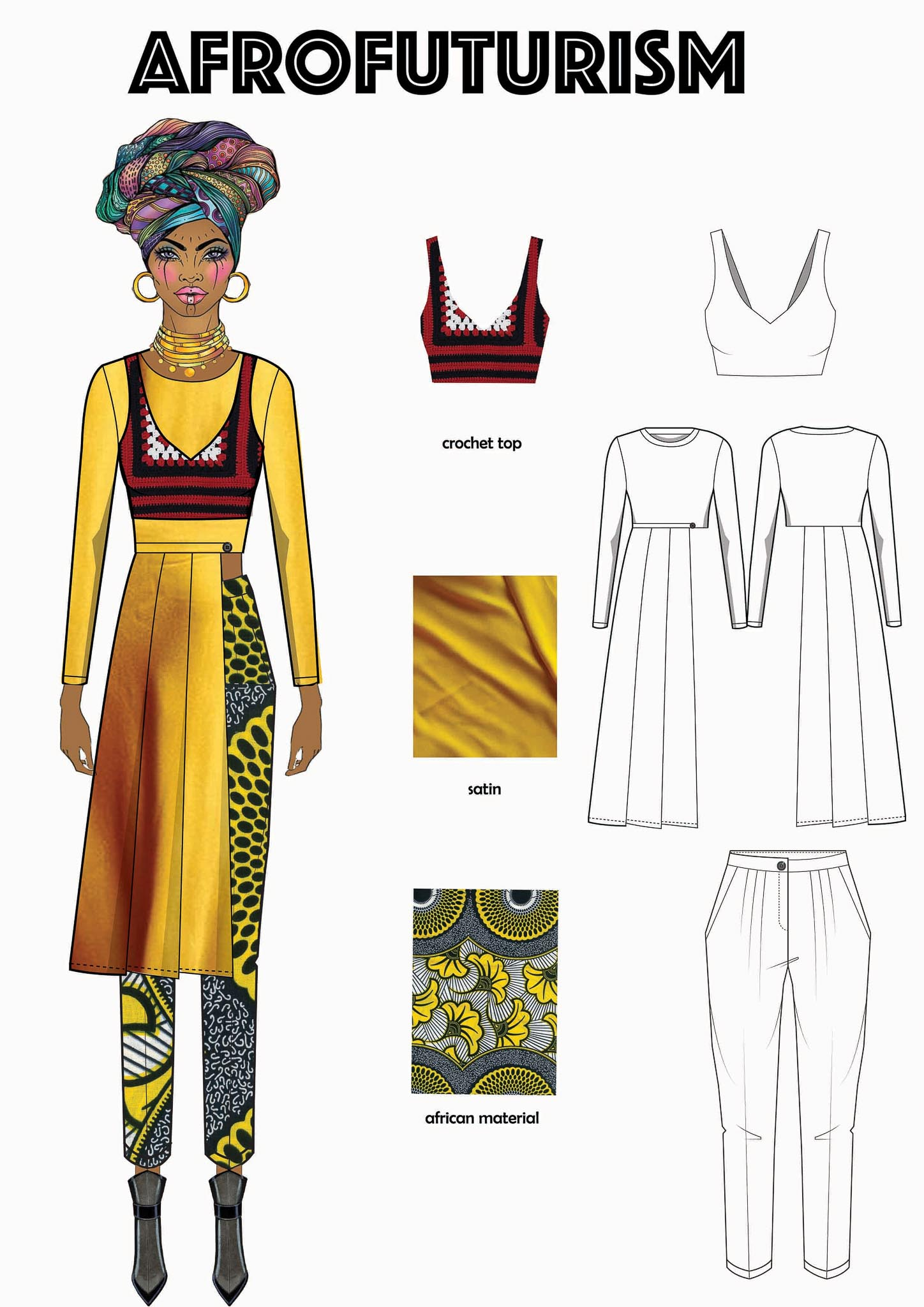 Afrofuturism: Esther Asemba Deagbo, Kongo, Student, Design Academy of Fashion (Create your Revolution)